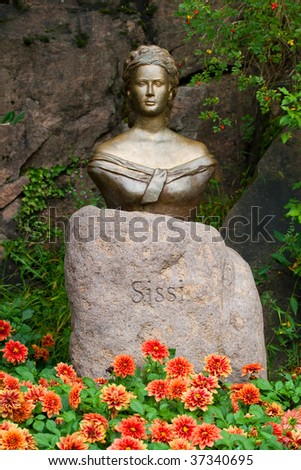 princess Sissy statue in a botanical garden