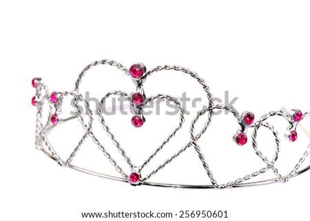 Princess toy tiara isolated on a white background - stock photo