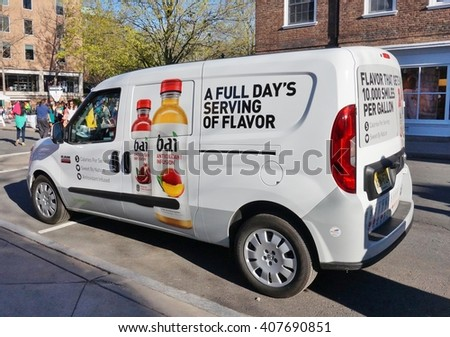 PRINCETON, NJ -17 APRIL 2016- A delivery van for Bai beverages. Bai, a brand of anti-oxidant low calorie infusion drinks, was founded in Princeton, NJ by Ben Weiss.