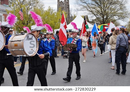 PRINCETON, NJ -26 APRIL 2015- The annual Communiversity festival brings together the town and gown of Princeton, NJ, for a day of outdoor performances, art, food, and games.