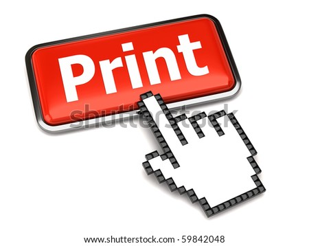 Print button and hand cursor