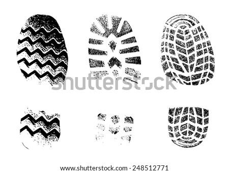 print footwear trace - stock photo