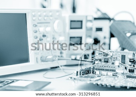 printed circuit board for the robot - stock photo