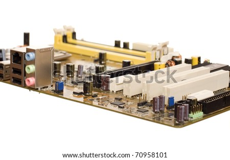 Printed circuit board isolated on the white background
