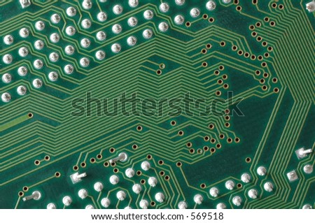 Printed circuit board with paths