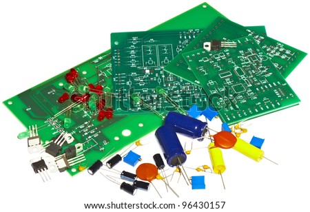 printed circuit boards, and radio components