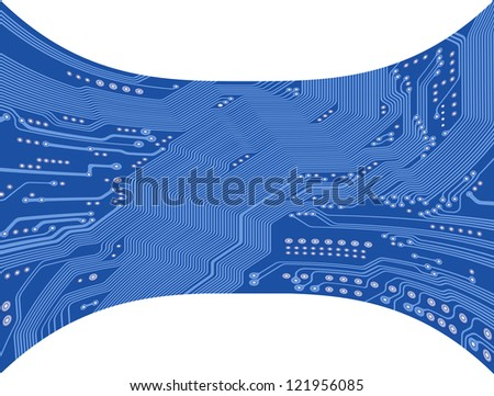 printed circuit - motherboard - technology abstract - stock photo