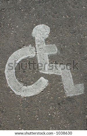 Printed handicapped parking sign