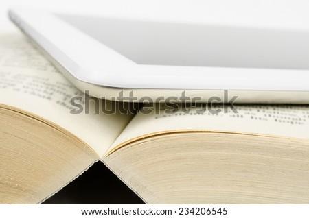 printed or digital - stock photo