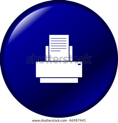 printer button - stock photo