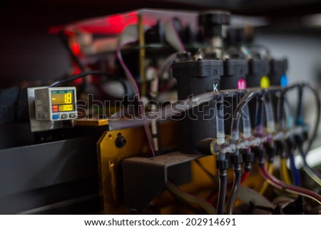 Printer Ink. - stock photo