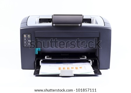 printer isolated against a white background - stock photo