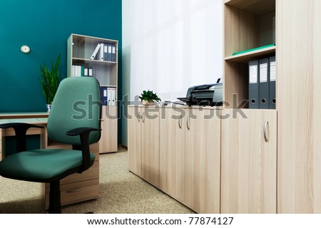 printer on a desk in a modern office - stock photo