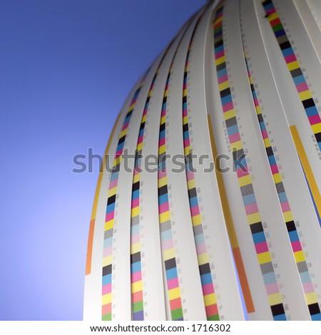 Printer's color bars. - stock photo