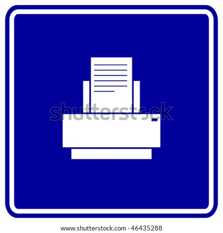 printer sign - stock photo