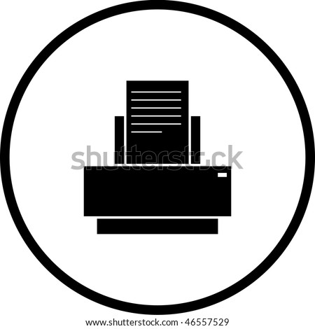 printer symbol - stock photo