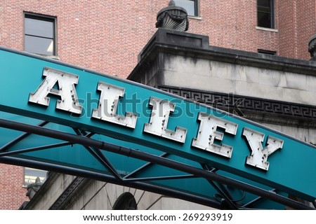 Printers Alley in Nashville, Tennessee  - stock photo