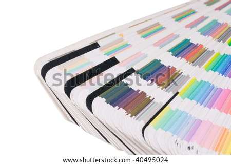 Printers Color guide with swatches - stock photo