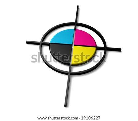 Printing color target - stock photo