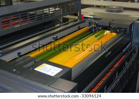 Printing - Offset press. Offset press is a printing machine designed to produce fine quality reproductions.