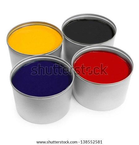 Printing press color, cyan, magenta, yellow - stock photo