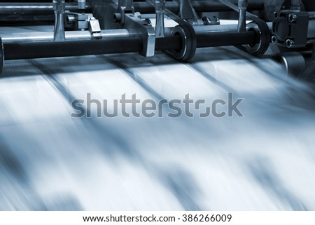 printing process in a modern printing house - stock photo