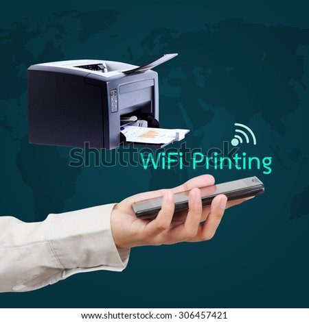 Printing report with wifi printer.