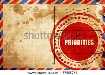 priorities - stock photo