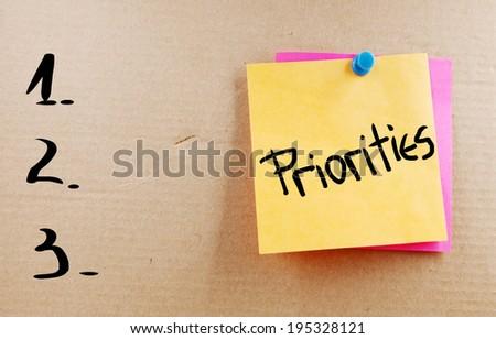 Priorities Concept - stock photo