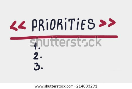 priorities concept - stock photo