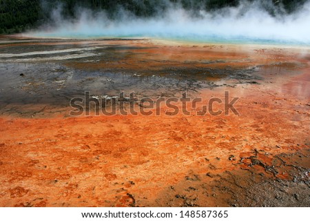 Prismatic Hot Spring, Yellowstone National Park, USA - stock photo