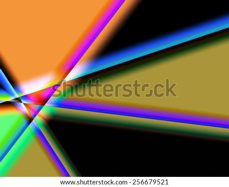 Prisms Of Color - stock photo