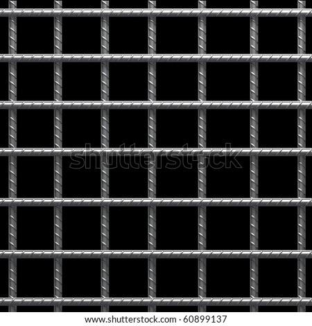 Prison bars - stock photo