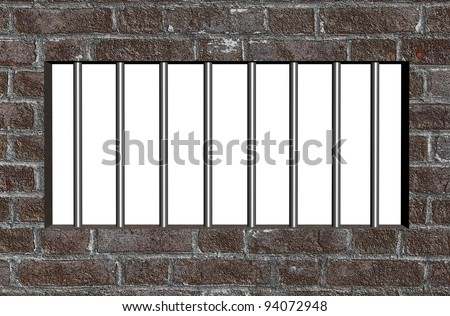 Prison bars - stock photo