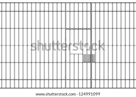 prison bars on a white background - stock photo
