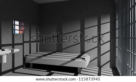 Prison cell - stock photo