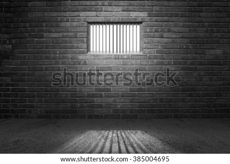 Prison Cell Background - stock photo