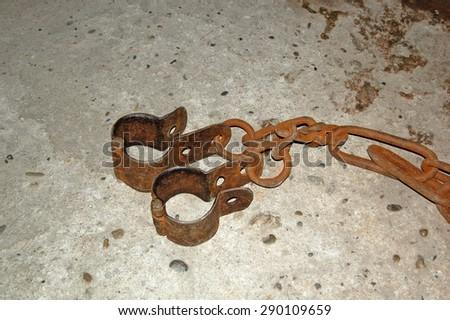 Prison clamp.(Historical Sinop Prison). Sinop,TURKEY - stock photo