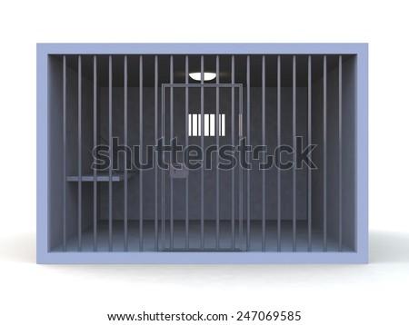 Prison 3d render - stock photo