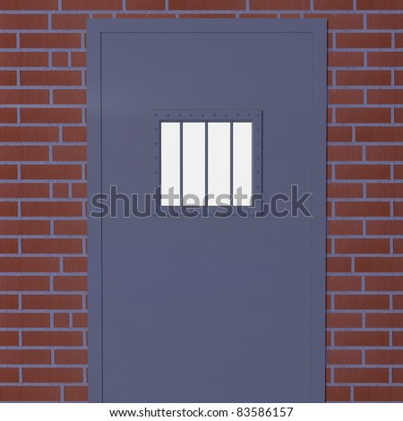 Prison Door- 3d illustration - stock photo