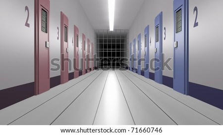 prison for both sexes - stock photo