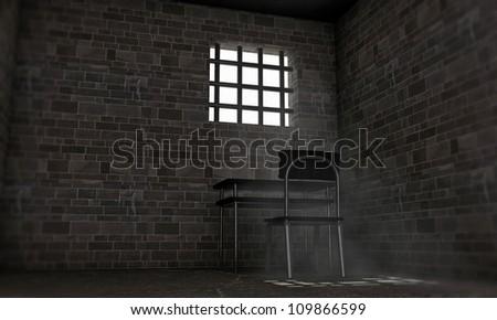 prison room - stock photo