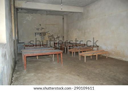 Prison room.(Historical Sinop Prison). Sinop,TURKEY - stock photo