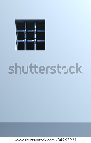 prison's window 3d rendering - stock photo