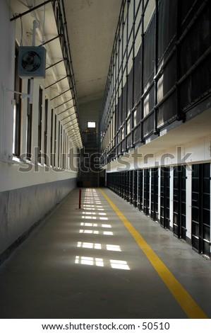 Prison tiers - stock photo