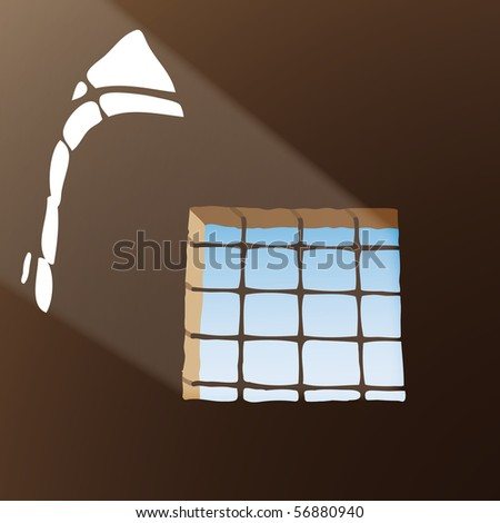 Prison window - stock photo