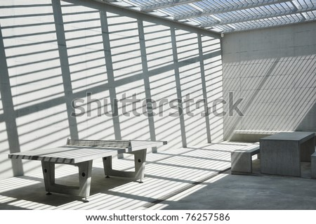 Prison yard - stock photo