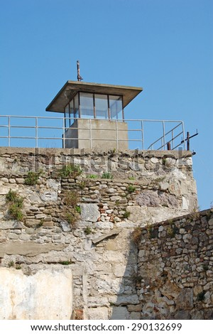 Prisoners watchtower (Historical Sinop Prison). Sinop,TURKEY - stock photo