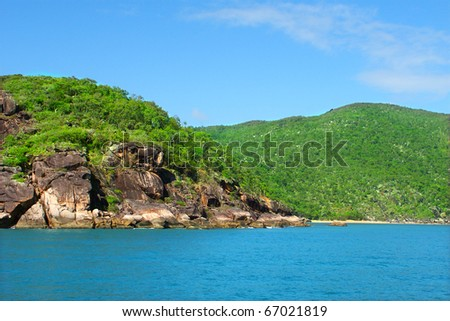 Pristine coastline near Port Douglas, Queensland - Australia - stock photo