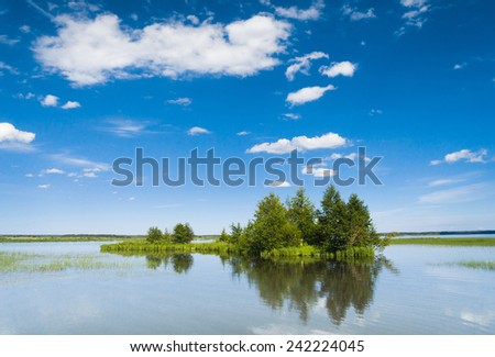 Pristine Nature On a Clear Day  - stock photo